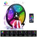 Tira luces LED RGB con mando y control por móvil Bluetooth 5m Mod. 5V-5050B