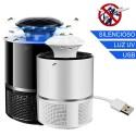 Lámpara LED antimosquitos Luz UV 360º USB silenciosa 5W / 5V