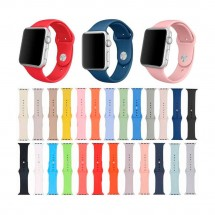 Correa silicona colores para reloj Apple Watch 1 2 3 4 5 6 de 38-40-42-44mm