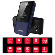 Teléfono Móvil Tapa tipo Flip Teclas grandes doble pantalla Dual Sim Bluetooth FP-24bl