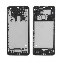 Carcasa marco frontal pantalla color negro para Samsung Galaxy A12 A125F