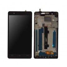 Pantalla LCD mas tactil con marco color negro BQ Aquaris E5 FHD