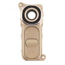 Embellecedor mas boton trasero Dorado para LG G4 H815