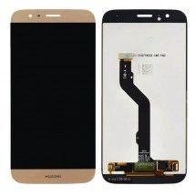 Pantalla LCD y tactil Dorado para Huawei Ascend G8