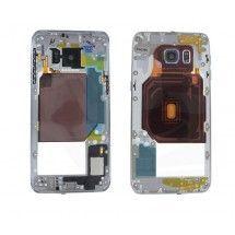Carcasa trasera negra con lente para Samsung Galaxy S6 Edge+ G928F