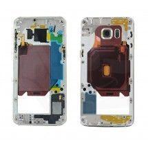 Carcasa trasera silver con lente para Samsung Galaxy S6 Edge+ G928F