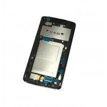 Marco frontal display color plata para LG K7 X210