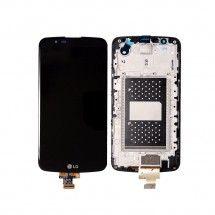 Pantalla LCD mas tactil con marco color negro LG K10