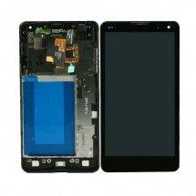 Pantalla LCD mas tactil con marco color negro LG Optimus G E975