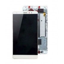 Pantalla completa blanco Con Marco para Huawei Ascend Mate S