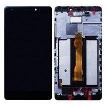 Pantalla completa negra Con Marco para Huawei Ascend Mate S