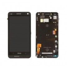 Pantalla LCD mas tactil con marco color negro para HTC One M7 801E