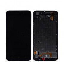 Pantalla completa negra con Marco para Huawei Ascend G620