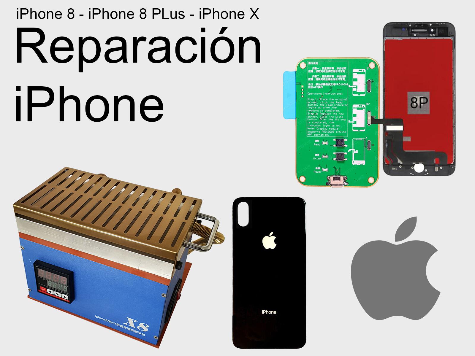 a7f3df73953 Reparar pantalla y tapa de iPhone 8, iPhone 8 Plus y iPhone X